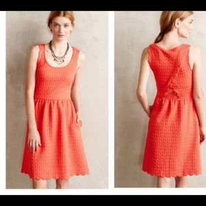 Anthropologie Maeve Scalloped Dress Size XS